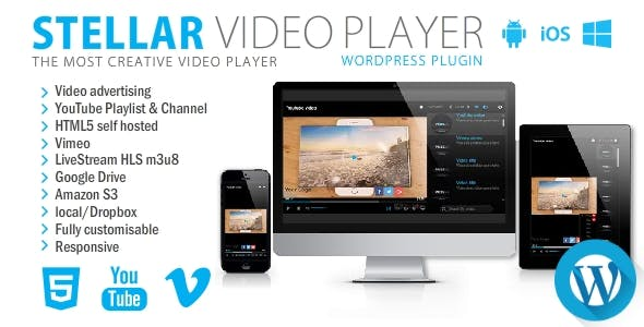 Stellar Video Player - Wordpress plugin