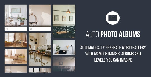 Auto Photo Albums – jQuery Multi Level Image Grid Gallery