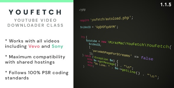YouFetch - YouTube Video Downloader Class - CodeCanyon Item for Sale