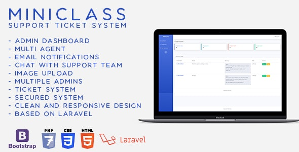 MiniClass - Ticket Support System - CodeCanyon Item for Sale