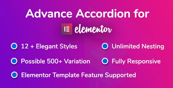 Advance Accordion for Elementor Page Builder - CodeCanyon Item for Sale