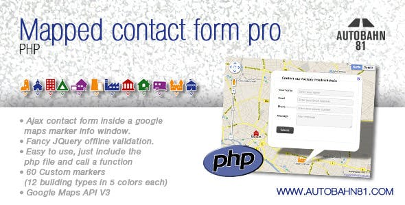Mapped contact form pro php