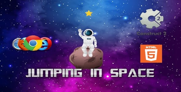 Jumping in space - HTML - Casual Game