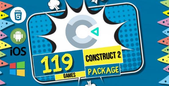 119 Games Super Package Bundle HTML5 Construct 2 Capx