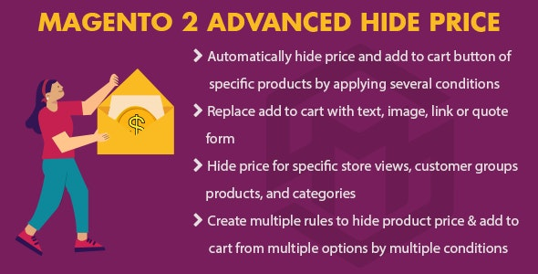 Magento 2 Advanced Hide Price - CodeCanyon Item for Sale