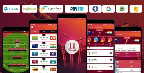11Dreamer - The Fantasy Cricket App (Fantasy Cricket, Dream11, Cricket App, Fantasy App) - CodeCanyon Item for Sale
