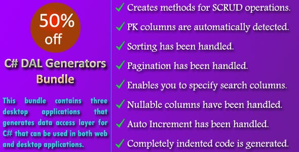 C# DAL Generators Bundle