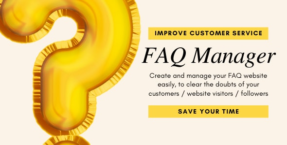 FAQ Manager- Create, Share, Manage FAQ Web App - CodeCanyon Item for Sale