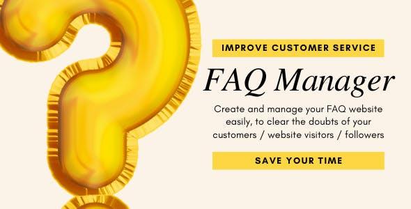 FAQ Manager- Create, Share, Manage FAQ Web App