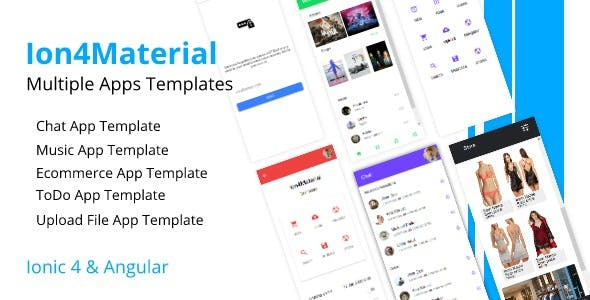 Ion4Material - Apps Templates