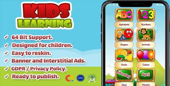 Kids Learning ABC - CodeCanyon Item for Sale