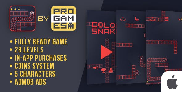 Color Snake - IOs game - easy to reskine + AdMob