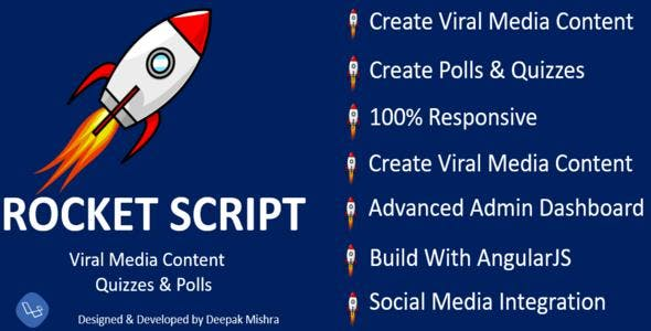 Rocket Viral Php Script,Viral Media Content ,Quizzes & Polls