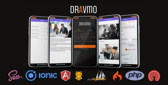 DRAVMO - Ionic ios/Android app Business App