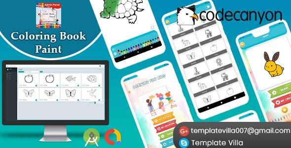 Coloring Book Paint With Admin Panel Ready For Publish