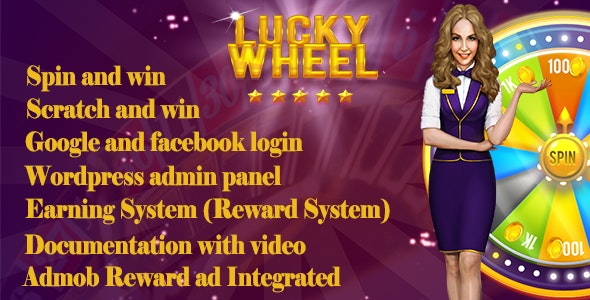 Spin And Win App With Earning system (Reward points) - CodeCanyon Item for Sale