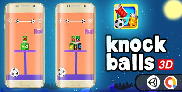 knock balls 3D - Shoot (Unity Complete Game + Admob )