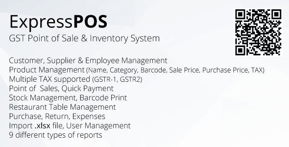 ExpressPOS - GST Point of sale & Inventory system