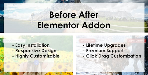Before After - Elementor Addon