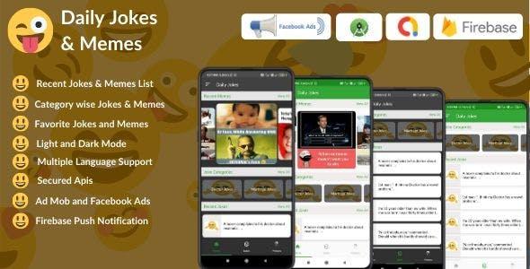 Daily Jokes & Memes Android App (Comedy, Funny, Joke, Memes)
