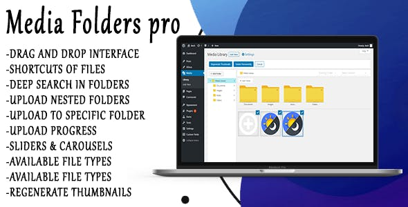 Media Folders Pro - WordPress Plugin