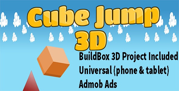 3D Cube Jump - Buildbox complete game - 3D Mobile App - CodeCanyon Item for Sale