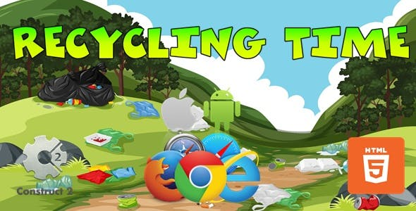 Recycling Time - HTML5 Construct 2 Game (.Capx)