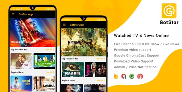 GotStar - iOS Live TV - Live Streaming - Web Series, Movies, Live Cricket - Online News - CodeCanyon Item for Sale