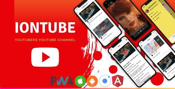 IonTube - Youtubers Youtube Channel (Ionic 5 & Angular 8) App