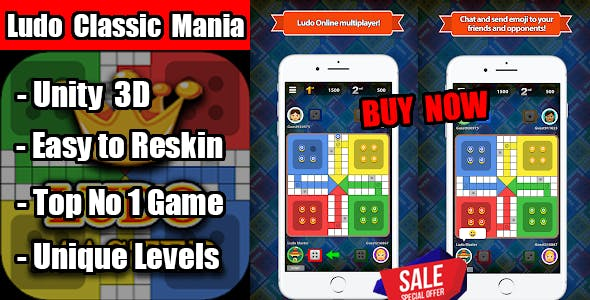Ludo Classic Mania Trending Game Unity Source Code Android & Ios