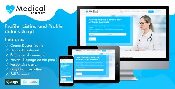 Medical Tourism - Web Application using Django and ReactJS