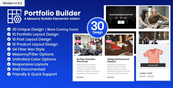 Portfolio - Post/Product/Portfolio Masonry Filter WordPress Plugin