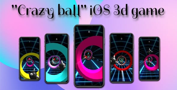 'Crazy Ball' full iOS 3d-game