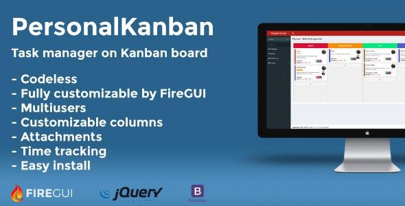 Personal Kanban Board - FireGUI Customizable - CodeCanyon Item for Sale
