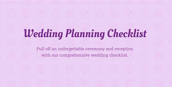Wedding Checklist — JavaScript Template (plugin) for Wedding websites