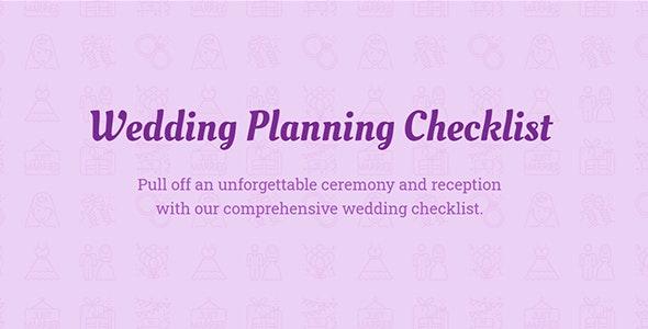 Wedding Checklist — JavaScript Template (plugin) for Wedding websites - CodeCanyon Item for Sale