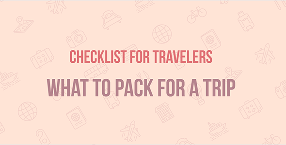 Travel Checklist — JavaScript Template (plugin) for Travel websites