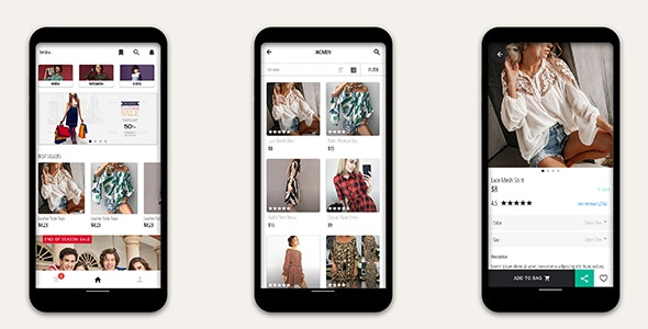 Ionic 5 Angular E-commerce App Template - CodeCanyon Item for Sale