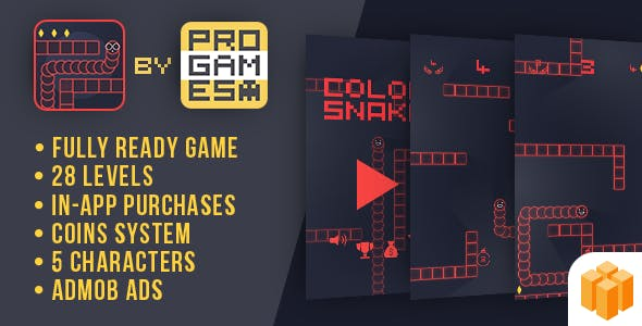 Color Snake - Buildbox - Android game - easy to reskine + AdMob