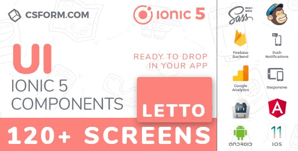 Letto | Ionic 5 / Angular 8 UI Theme / Template App | Multipurpose Starter App