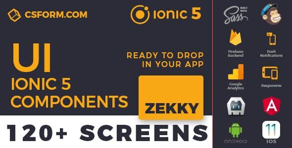 Zekky | Ionic 5 / Angular 8 UI Theme / Template App | Multipurpose Starter App