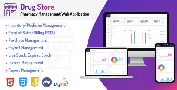 Drug Store - Pharmacy & Billing Management Web Application
