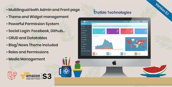 Botble - Laravel CMS, CRUD generator, Modular & Theme system, Role permissions, Multilingual blog