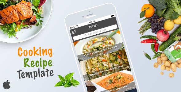 Cooking Recipe Template for iOS