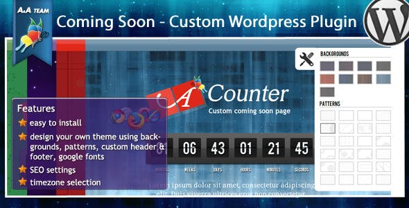 Premium Coming Soon - Wordpress plugin
