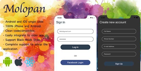 Molopan | React native Login & Register