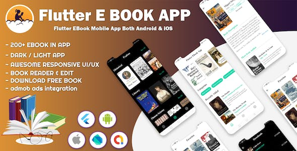 Flutter E-Book Ui Kit Android IOS