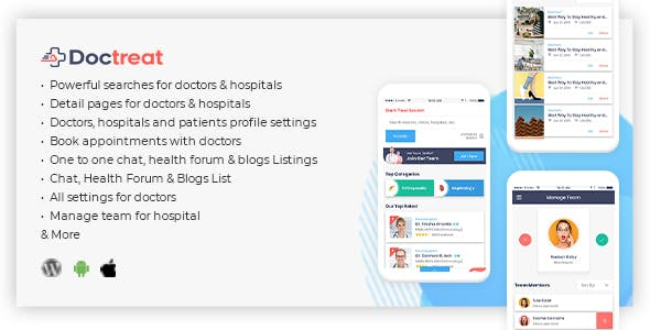 Doctreat - React Native Mobile APP for Android and IOS