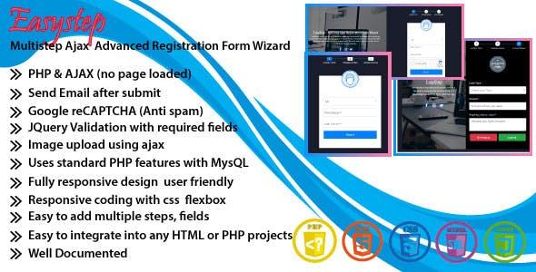 EasyStep - Multistep Ajax Advanced Registration Form Wizard