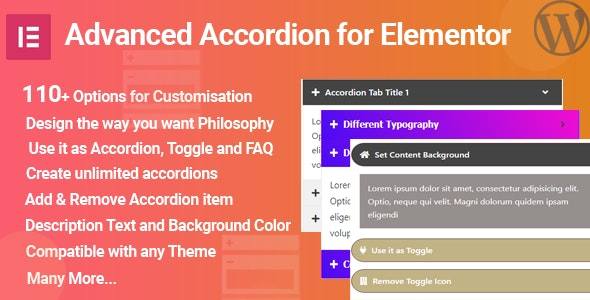 WPElite Advanced Accordion for Elementor - CodeCanyon Item for Sale